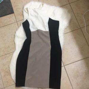 Express body-con color block mini dress